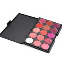 PhantomSky 15 Colores brillo de labios Paleta de Maquillaje Cosmética ...