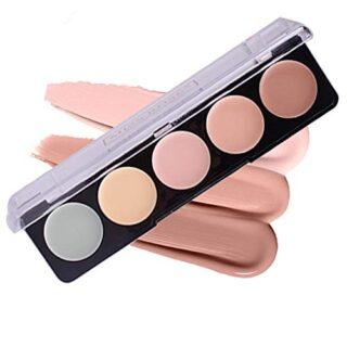 PhantomSky 5 Colores Corrector Camuflaje Paleta de Maquillaje Cosmétic...