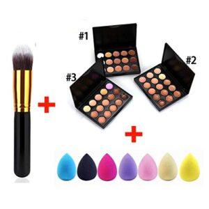 Tauser 15 colores corrector paleta crema facial maquillaje pincel gota...
