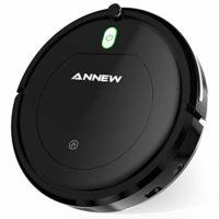 ANNEW Robot Aspirador con Control Remoto 3 Modos de Limpieza Anti-caíd...