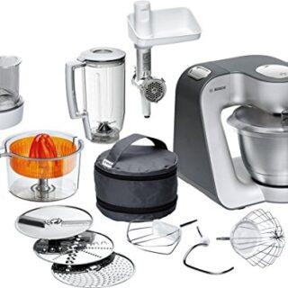 Bosch MUM56340 - Robot de cocina, 900 W, capacidad de 3,9 l, color neg...
