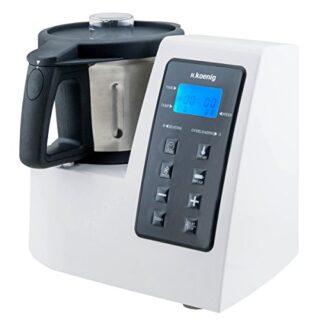 H.Koenig HKM1028 Robot de Cocina Funcion Caliente, 1300 W, 600 W, Acer...