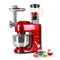 Klarstein Lucia Rossa 1200W 5L Rojo - Robot de cocina (5 L, Rojo, 1,5 ...