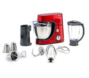 Moulinex QA512G10 - Robot de cocina (4,6 L, Rojo, Acero inoxidable, 11...