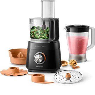 Philips Robot de cocina HR7510/10 - Robot de cocina compacto todo en u...