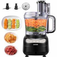 Procesador de Alimentos, AICOK 900W 2.4L Robot de Cocina, Cortador de ...