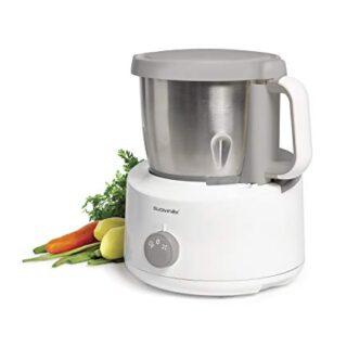 Suavinex - Robot de cocina bebé 5en1: Cocina, tritura, Calienta, desco...