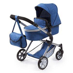 Bayer Design 18135AA Cochecito de muñecas City Neo, Convertible, Azul,...