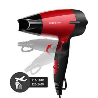 Aigostar Linda 32GQT - Secador de pelo de viaje diseño portátil. Doble...