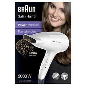 Braun HD380 - Secador de pelo, 3 niveles de temperatura, 2000 W, color...