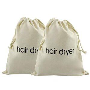 Cotiny - Bolsas de algodón para secador de pelo (2 unidades)
