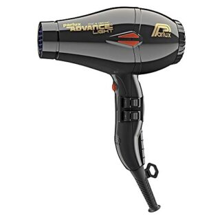 Parlux Advance Light - Secador de pelo ionico, Negro