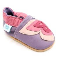 Dotty Fish Zapatos de Cuero Suave para bebés. Antideslizante. Lila y M...