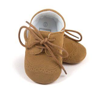 Infant Baby Boys 'zapatos sintética Zapatillas marrón marrón Talla:3-6...