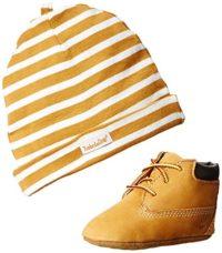 Timberland - Patucos y casquillo para bebés, Multicolor (Amarillo/ Bla...