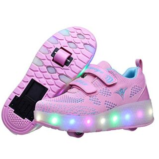 Zapatos con Ruedas Zapatillas con Dos Ruedas para niños y niña Led Luc...
