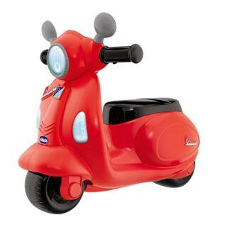 Chicco - Carretilla elevadora Vespa con forma de moto y volante electrónico ...