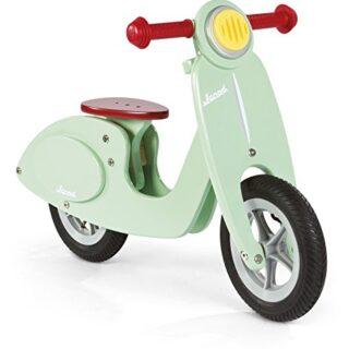Janod - Bicicleta scooter verde menta sin pedales de madera (J03243)
