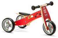 Triciclo de madera Nicko NIC811, rojo, grande, talla única