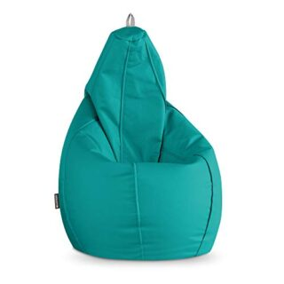 Happers Puff Pera Polipiel Indoor Turquesa XL