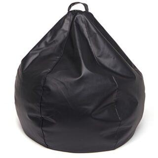 Jarrous Puff Pera Modelo Colonial, Color Negro, Medida 90x90x70cm