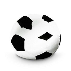 Lumaland Puf Pouf Pelota Almohada de Forma de Pelota de fútbol110 cm