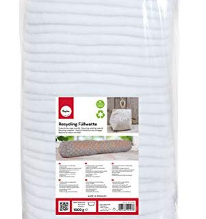 Rayher Algodón de relleno reciclado, en capas, tejido, surtido, de mat...