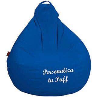 loconfort Puff Pera Personalizado con TU Nombre, Poli Piel Beig (XL Ad...