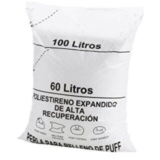 textil-home RE-Puff-2 Relleno para Puff de Bolas (Perlas), Poliestiren...