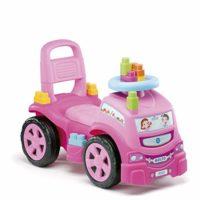 M MOLTO 3 x 1 deslizador de camión rosa con 10 bloques