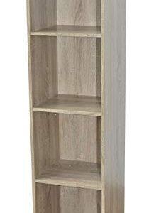 Alsapan estantería, Madera, marrón, 31x 30x 123cm