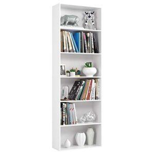 Homfa Estantería 6 Cubos Librerías para Libros CDs DVDs Estantería de ...