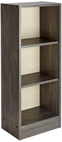 INFINIKIT Haven Pequeño Librero, Roble gris, 41,5x104,5x28 cm