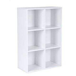 VASAGLE Librería Estantería Biblioteca con 6 Compartimentos 65,5 x 30,...