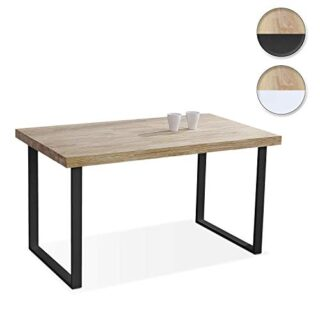 Adec - Natural, Mesa de Comedor, Mesa Salon Fija Color Roble Salvaje y...