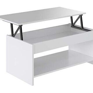 Marca Amazon -Movian Aggol Modern - Mesa de centro elevable con balda...
