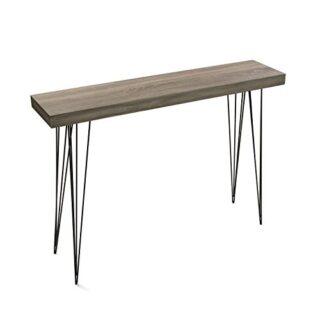 Versa 20361009 Mesa entrada madera color roble Dallas, 110x80x25, Cons...