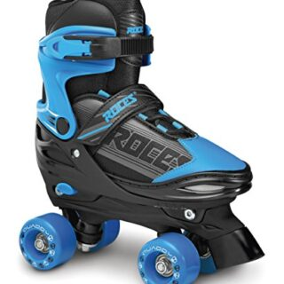 Rods QUADDY Boy Skateboard, Bimbo, Negro / Azul, 25-29