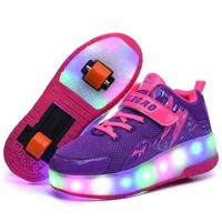 SHANGN Wheel Shoes Patines con ruedas LED para niños Unisex P ...