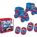 Spiderman Spiderman-18390 Juego de patines para niños con protecciones, ...