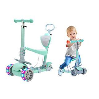 Baobë 5 en 1 Kick Scooter para niños, Scooter ajustable para niños pequeños ...