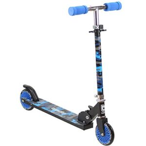 Bopster Scooter plegable para niños - Camuflaje Azul
