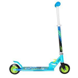 Evo Scooter plegable en línea azul   Scooter de 2 ruedas para niños ...