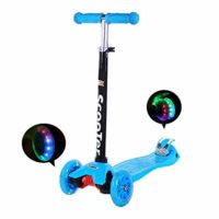 IMMEK Scooter Scooter de 3 ruedas con luces LED Altura del manillar ajustable ...