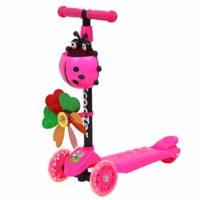 siwetg Windmill Ladybug - Patinete de altura plegable y ajustable con ...