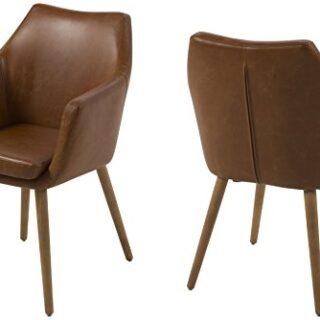 AC Design Furniture Lore - Silla con Brazos (Revestimiento de Piel Art...