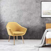 Mc Haus Mostaza Sillón Nórdico Salón Comedor o Dormitorio Navian Color...