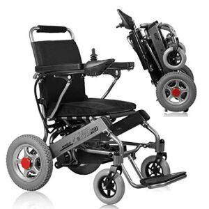 A ~ LICE & C Power Silla de ruedas eléctrica Silla de ruedas plegable ...