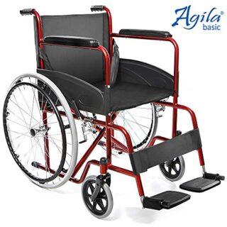 AIESI Silla de ruedas autopropulsada plegable ligera para discapacitados ...