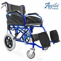 AIESI Silla de ruedas plegable de aluminio ultraligera con freno para ...